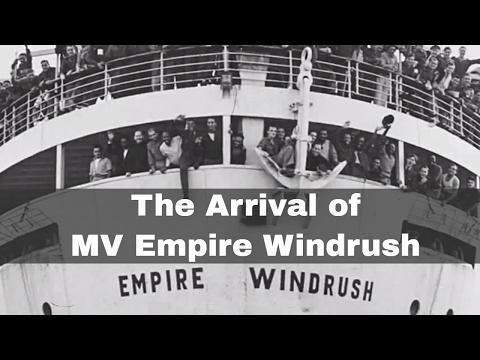 22nd June 1948: MV Empire Windrush arrives at Tilbury Docks in London