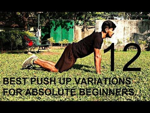 PUSH-UP For BEGINNERS (men/women Both)- 12 Types Of PUSH UP