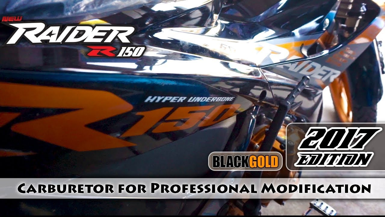 Raider 150 New Model 2017 >> Raider R150 Hyper Underbone 2017   Carburetor   Color Black-Gold   Suzuki Philippines ...