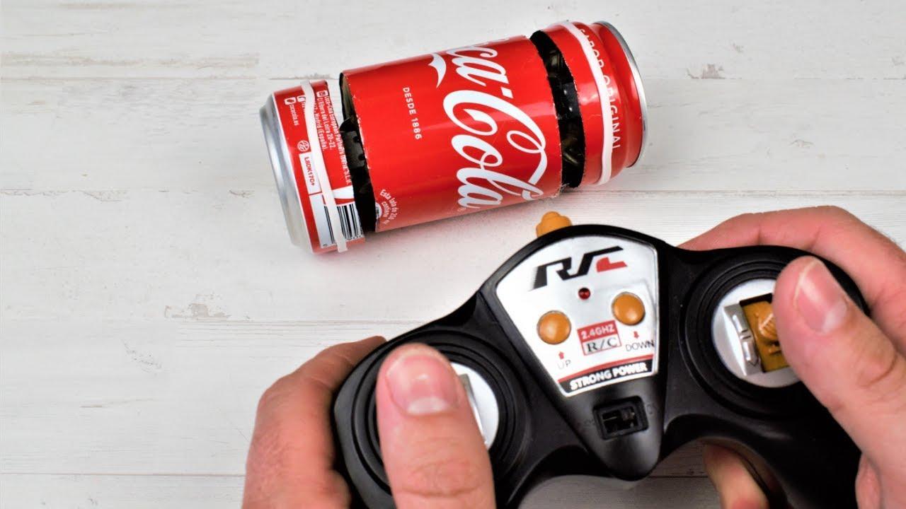 Como Hacer Un Coche Electrico Casero Con Una Lata De Cocacola Experimentos Caseros Youtube