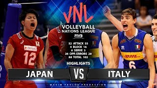 Japan vs Italy | Highlights Men's VNL 2019