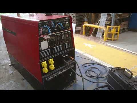 MIG Welding Test with Lincoln Ranger 300 DLX Diesel Welding Generator