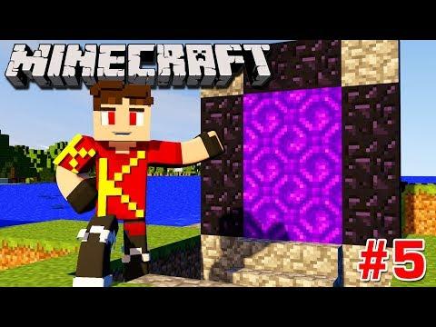 Minecraft Sinh Tồn #5 | XÂY CÁNH CỔNG XUỐNG ĐỊA NGỤC | KiA Phạm (w/ Vamy Trần)
