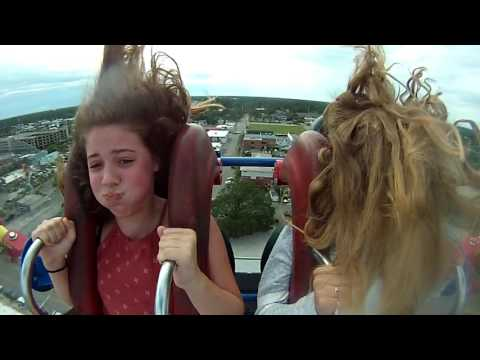 Emily and Hayley, Myrtle Beach Slingshot 6/30/2017