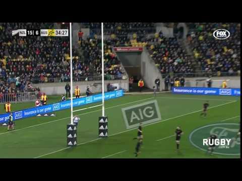 Hodge kicks a 60 metre monster