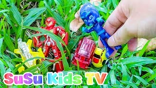 Pj masks & Super Heroes toys #2 Colors for Kids full Episode  airplane and car toys for kids