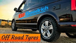 We fitted some big beefy tyres!! BFGoodrich All Terrain Tyres