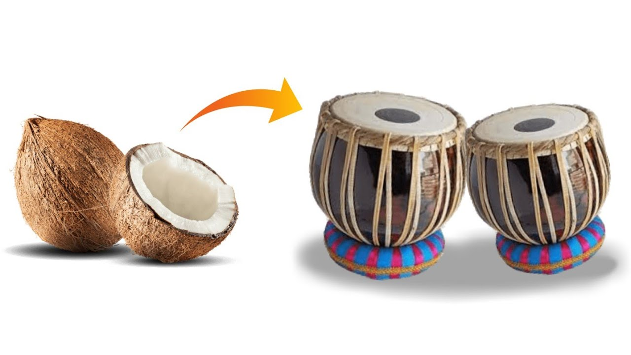 Best Craft Idea How To Make A Mini Tabla From Waste Coconut Shell