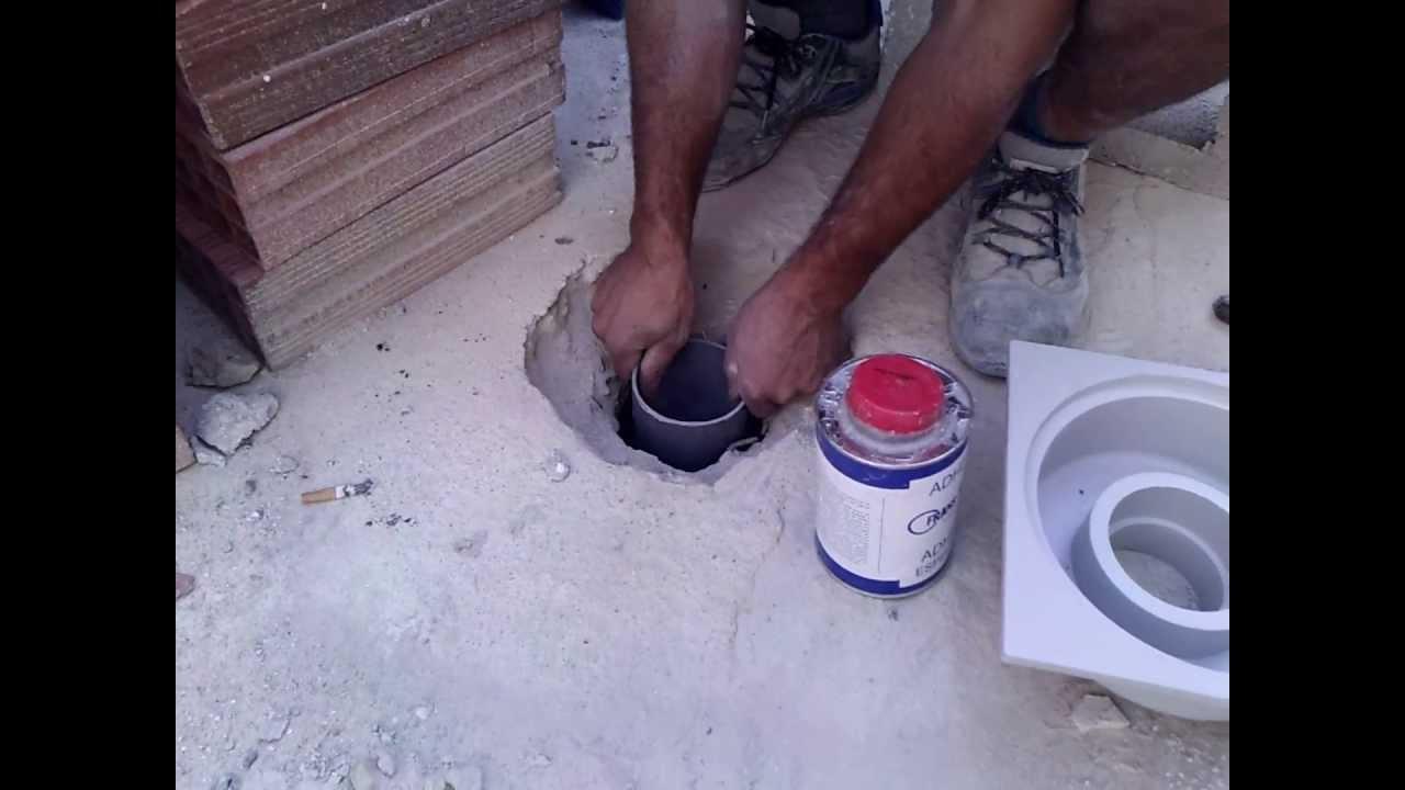 Como colocar sumidero pvc sifonico para impermeabilizacion for Como desatascar un desague