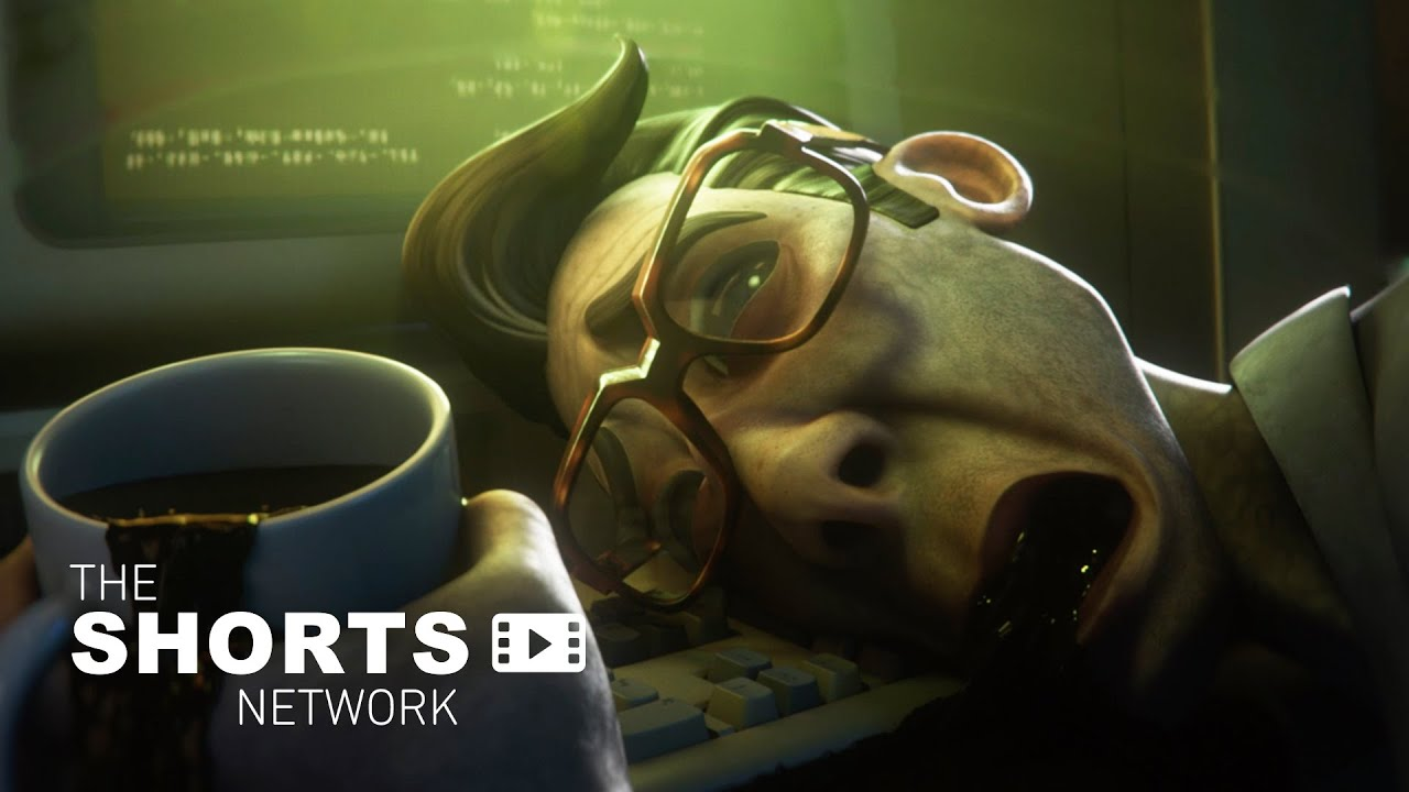 Buried in paperwork and coffee, a office worker's sanity starts to slip away. | Short Film