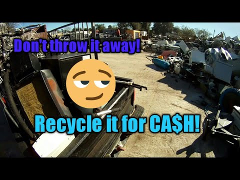 Searching for scrap metal to recycle for extra cash.