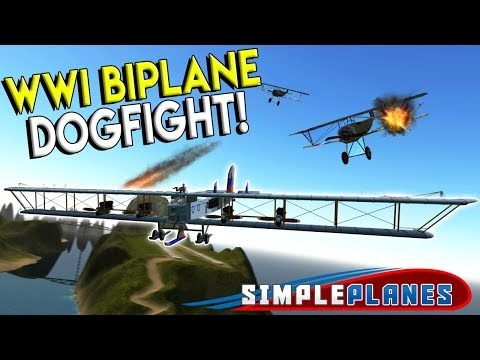 WWI BIPLANE DOGFIGHT & BOMBER! - Simple Planes Creations Gameplay - EP 19