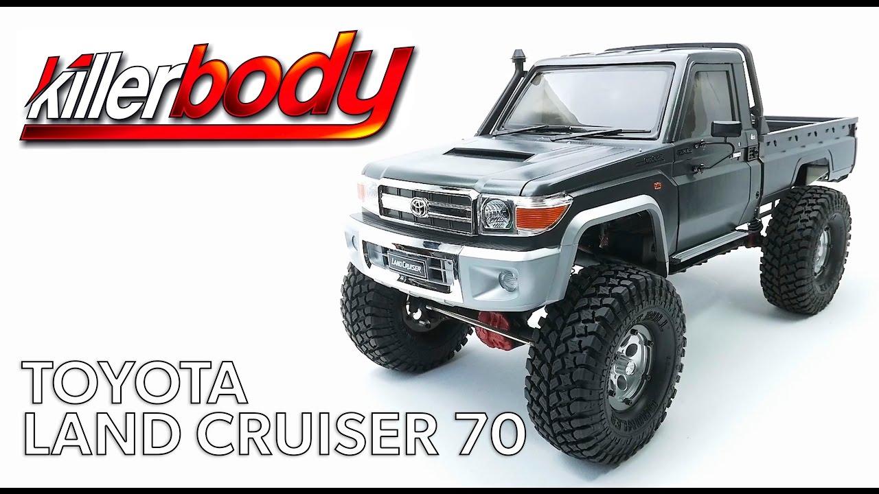 ... KillerBody Toyota Land Cruiser 70 1/10 Hard Body Kit - YouTube