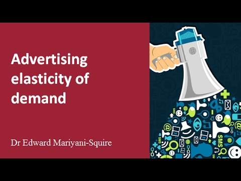 Advertising Elasticity Of Demand Youtube