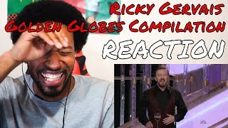 The Best of Ricky Gervais at The Golden Globes (2010-2012) REACTION - DaVinci REACTS