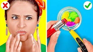 منتجات تجميل بسيطة وحيل رائعة للفتيات || أفكار للشعر والمكياج يجدر بك تجربتها