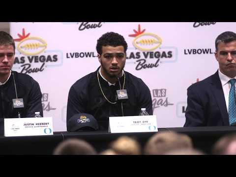 Oregon Vegas Bowl Press Conference