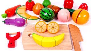 Learn Colors with Cutting Fruits and Vegetables Toy for Kids