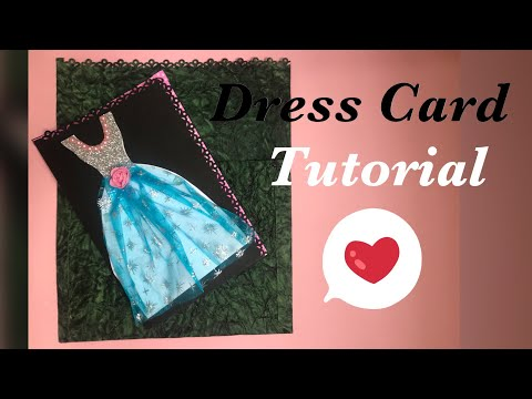 Gown Card Tutorial |HOW TO MAKE A Gown Card by rafsha|Card for scrapbook|Easy DIY girl dress card