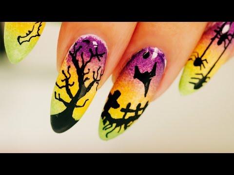 Ombre Halloween Nail Art