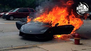 Crashed supercars. Show off fails. Expensive and luxury cars
