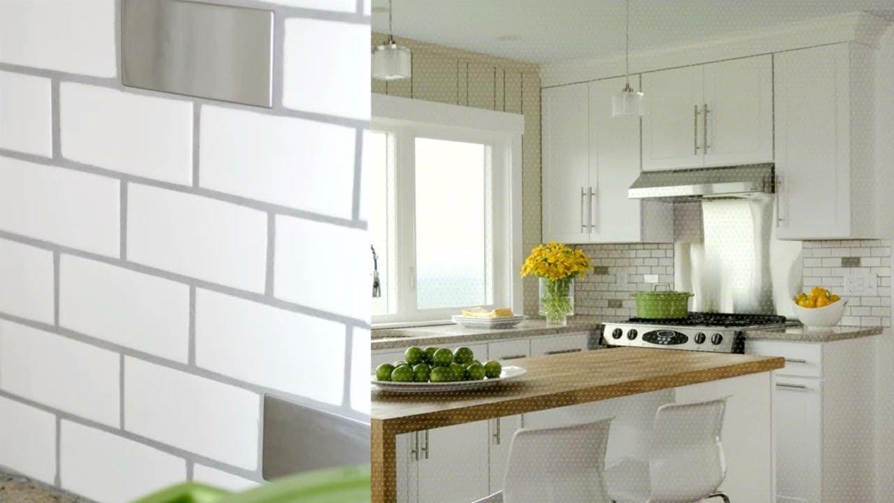 interesting kitchen backsplash tile design idea | Known kitchen tile backsplash ideas with honey oak ...