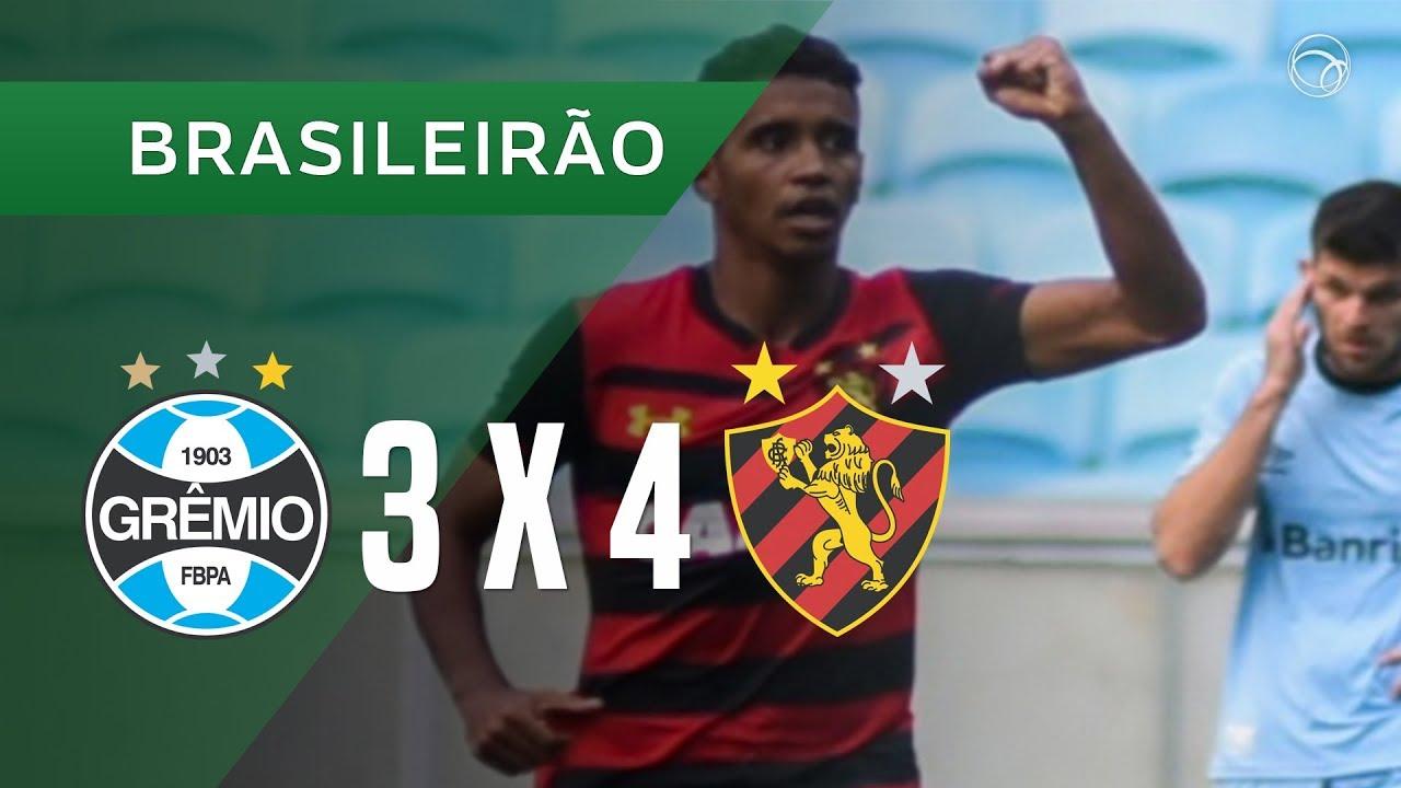 GRÊMIO 3 X 4 SPORT - GOLS - 27/10 - BRASILEIRÃO 2018