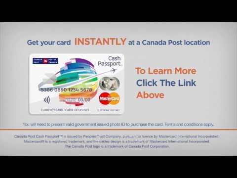Canada Post MasterCard Cash Passport