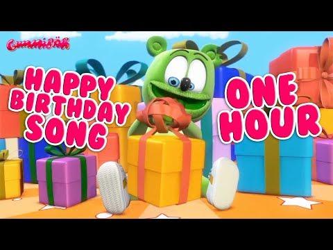 Happy Birthday To You ONE HOUR Happy Birthday Song * Gummibär Gummy Bear Song