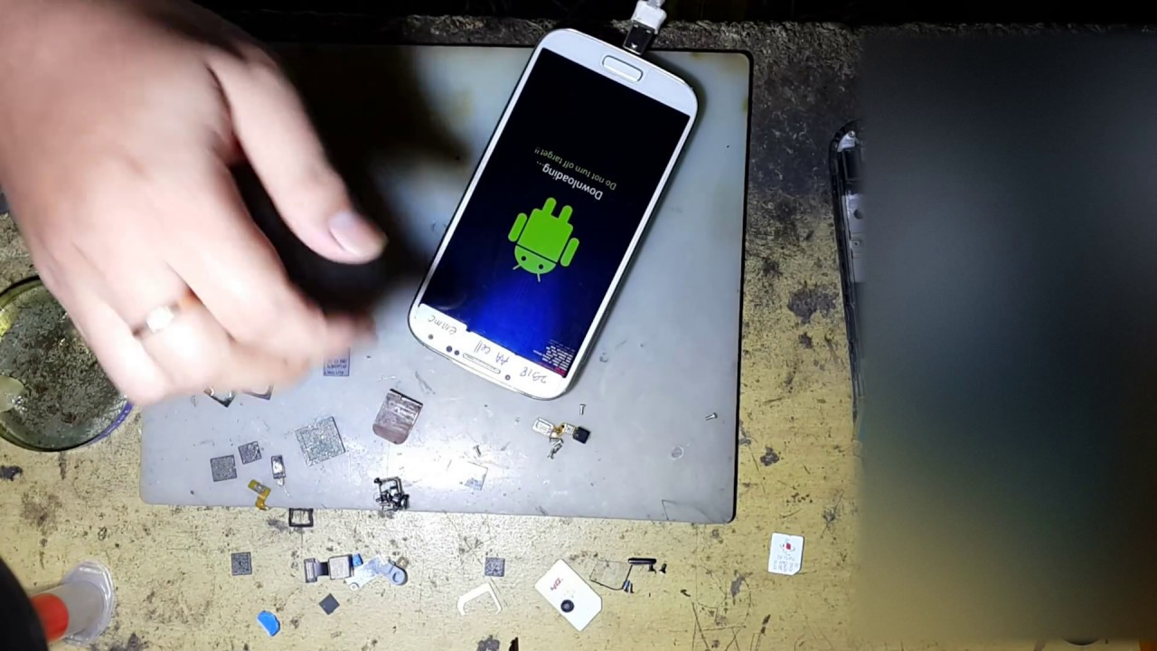 Cara Ganti Ic Emmc Samsung Gt I9505 S4 Lte Youtube