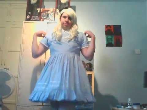 sissy lolita alice strip tease