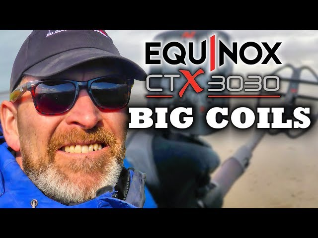Beach Metal Detecting Minelab Equinox & CTX 3030 Large Coils