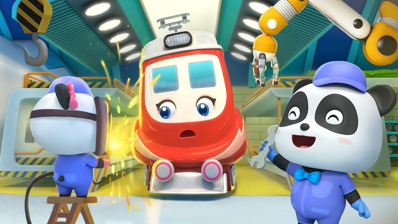 Trạm sửa tàu Kiki và Miumiu   Những đoàn tàu vui nhộn   Nhạc thiếu nhi vui nhộn   BabyBus