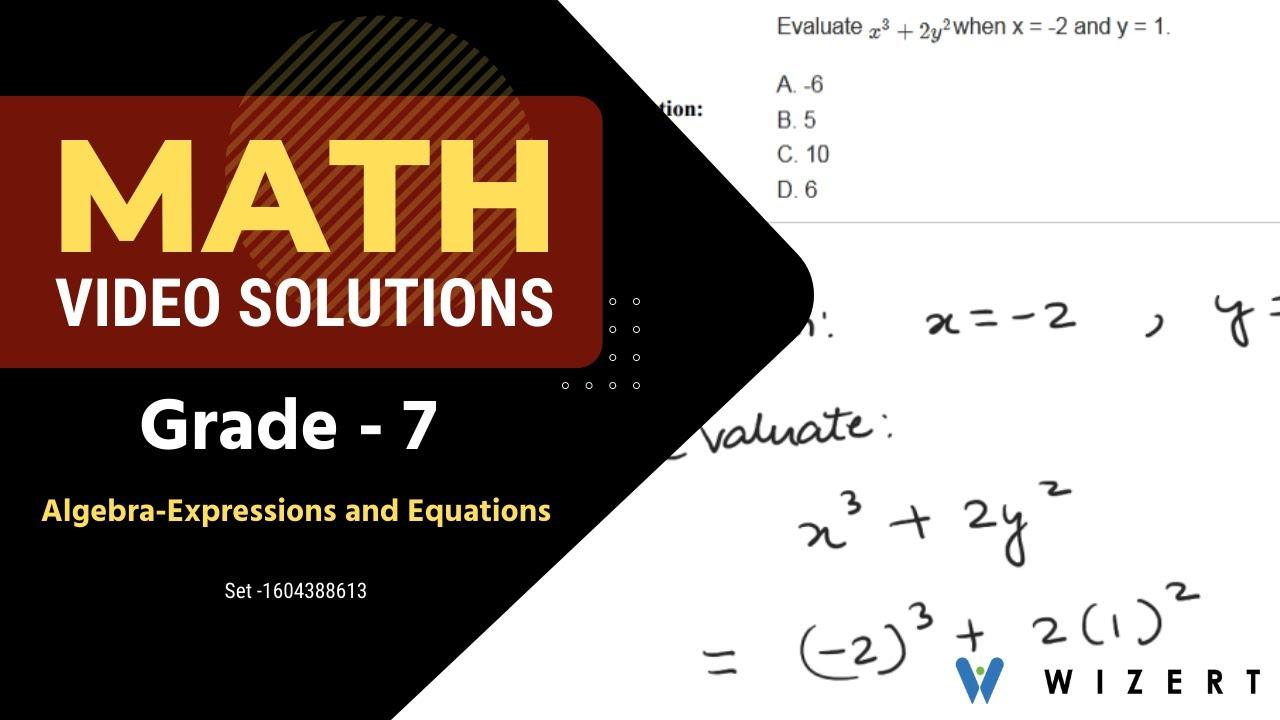 Grade 7 Mathematics Worksheets - Algebra (Expressions And Equations)  worksheet pdfs - Set 1604388613 - YouTube [ 720 x 1280 Pixel ]