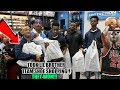TOOK JAY BASKETBALL TEAM SHOE SHOPPING AFTER WIN!!