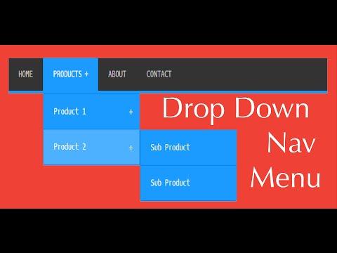 Creating A Drop Down Navigation Menu Using Pure Css And Html
