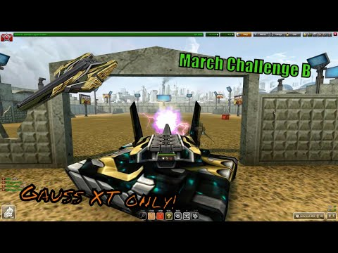 Finishing March Challenge B ONLY WITH Gauss XT?? + 1 MILLION crystals!! | Tanki Online