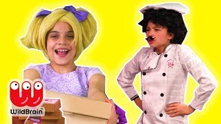 Princess Pizza Delivery Goes Wrong! Esme Vs. Malice - Princesses In Real Life | WildBrain Kiddyzuzaa