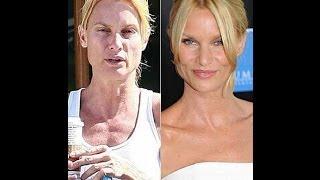 Звезды Голливуда с макияжем и без #1. Hollywood stars without makeup #1