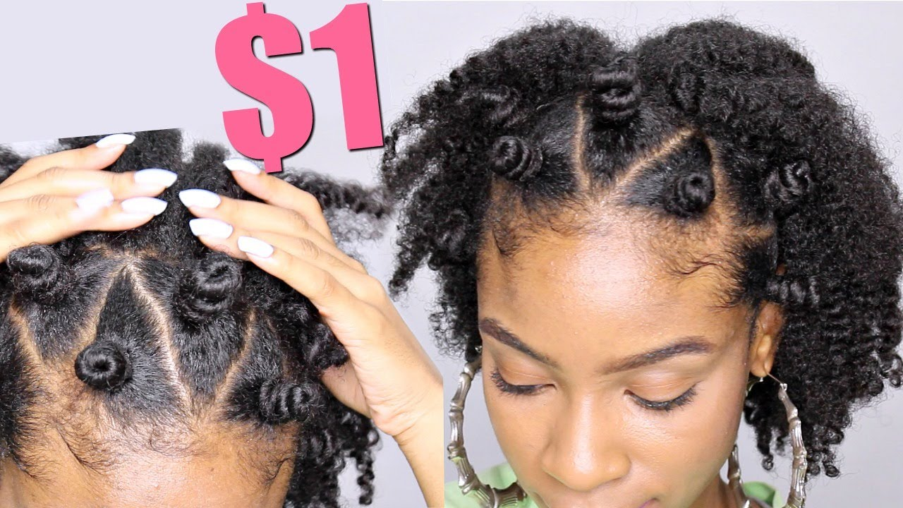Bantu Knot Crown On Natural Hair Natural Hairstyles Youtube