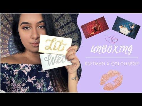 UNBOXING BRETMAN X COLOURPOP WET & LIT PALETTES thumbnail