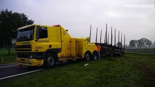 Vrachtwagen verliest aanhanger op A28 bij De Lichtmis