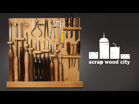 How to make a DIY woodturning tool rack