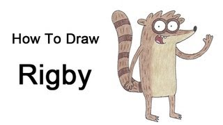 How to Draw Rigby (Regular Show)