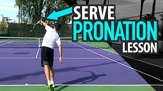 Tennis SERVE Lesson: PRONATION Technique + Drills for POWER & SPIN