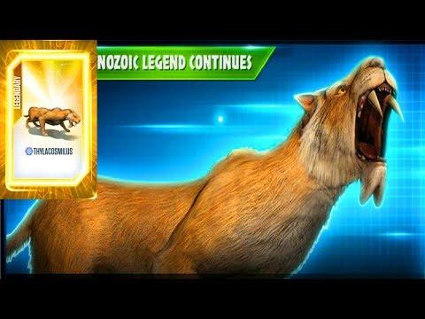 Jurassic World Game Mobile #86: Khủng long mới Thylacosmilus anh em với thylacoleo