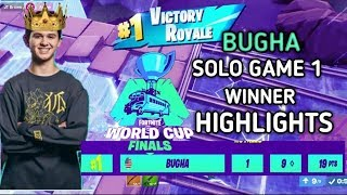 Sen Bugha Victory Royale Fortnite World Cup Solos game 1