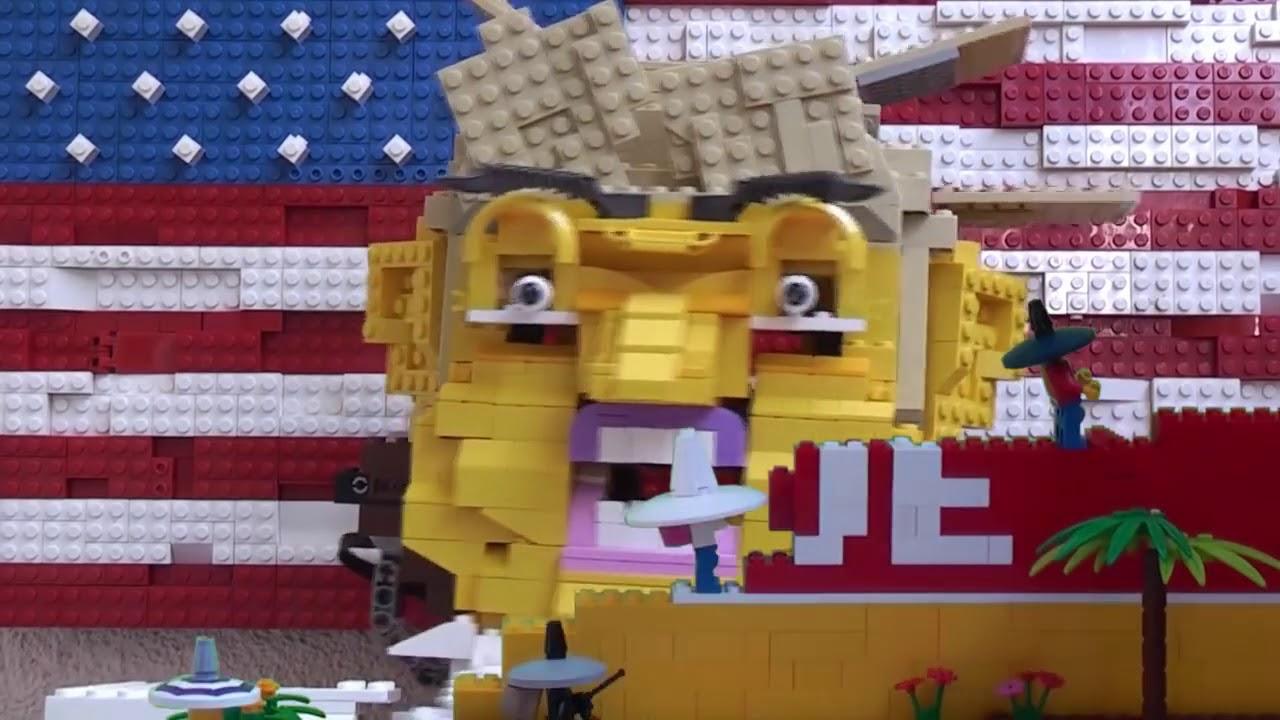 US Mexico Border Wall Trump Lego Stop motion - YouTube