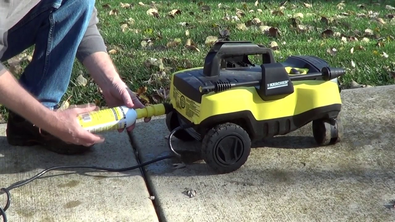 Winterize Electric Pressure Washer