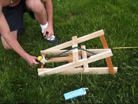 basic catapult demonstration youtube. Black Bedroom Furniture Sets. Home Design Ideas